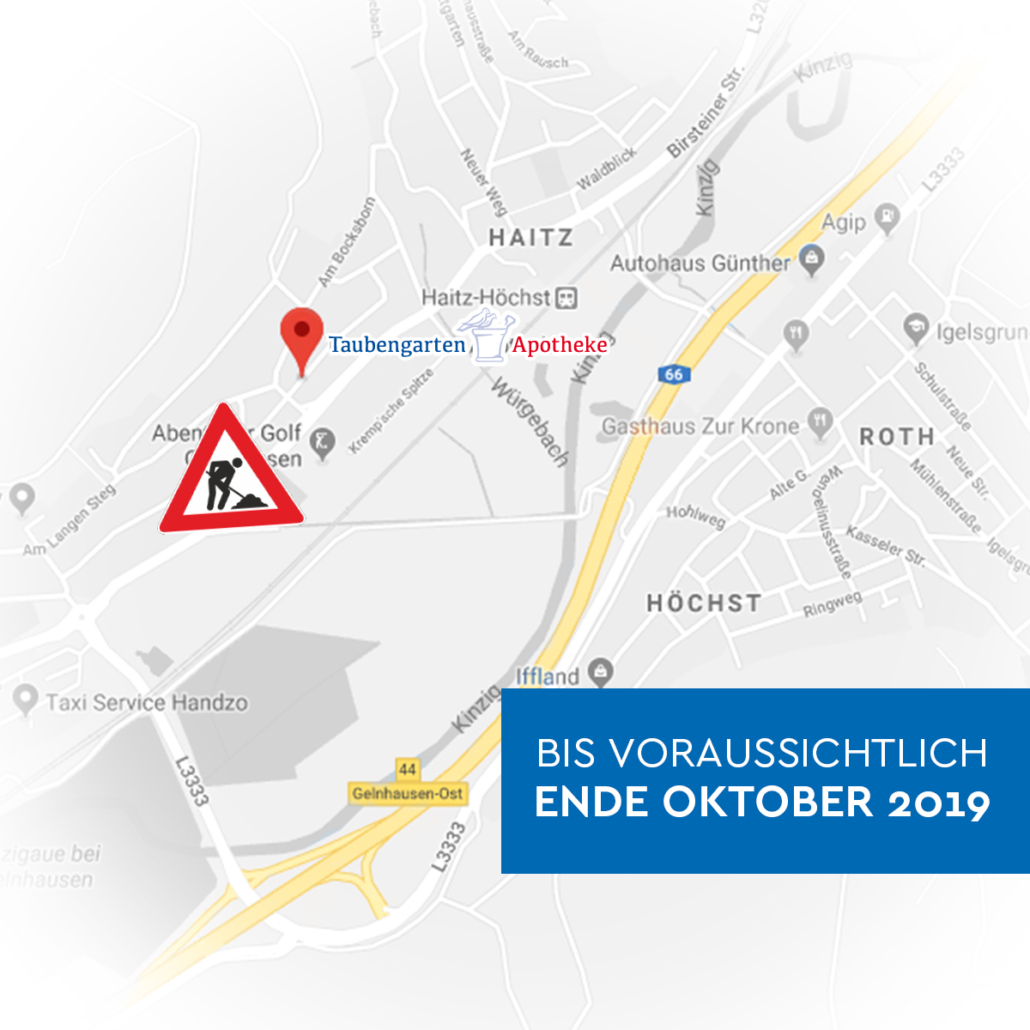 taubengarten karte baustelle gelnhausen oktober 2019